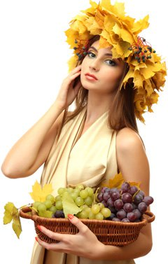 woman-holding-a-basket-full-of-grapes