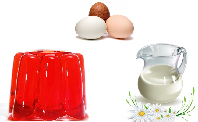 Egg-mask-raw-milk-and-gelatin