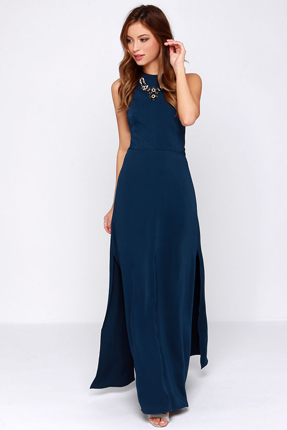 Navy-Blue-Maxi-Dress
