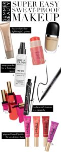 Some tips for sweat proofing your makeup